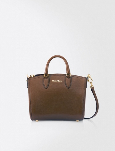 Сумка Max Mara  Mini Ginevra leather bowling bag